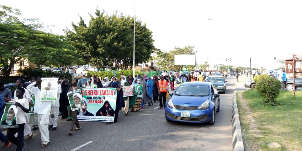 protest condemning army and buhari on 6 nov