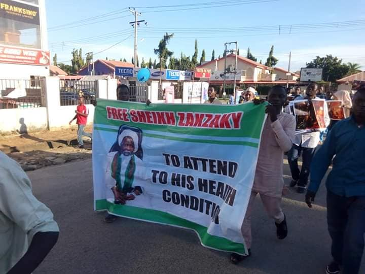 free zakzaky in abuja on friday 18th of sept 2019