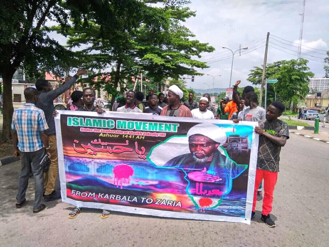 free zakzaky protest in Abuja on 17 sept 2019