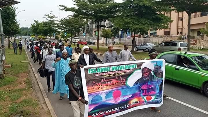free zakzaky protest in Abuja on thurs 26 sept 2019