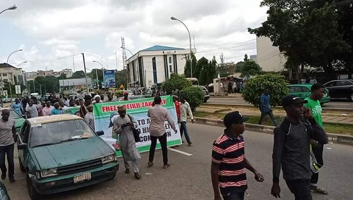 free Zakzaky protest in abuja on wed 4th sept 2019