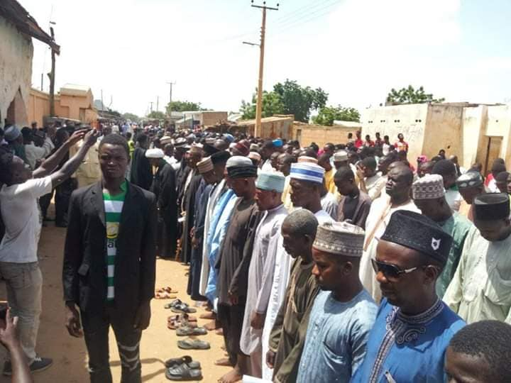 funeral of shahid salihu azare killed by polce on ashura