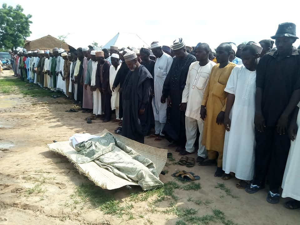 funeral of shahid haruna giade killed by police on ashura in azare