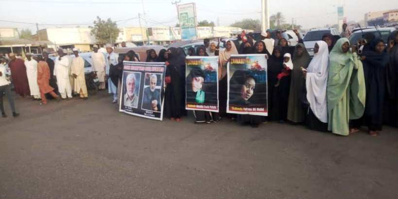 nationwide free zakzaky protest in 18 Jan 2020
