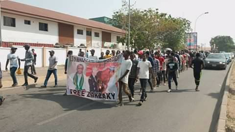 police attacked free zakzaky protest in abuja on 14 Jan 2020