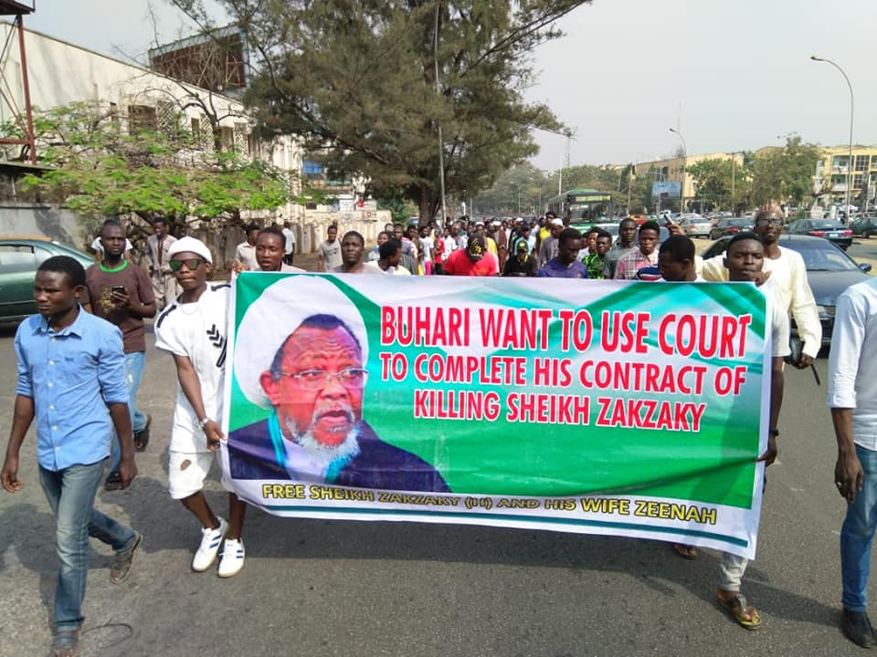 free zakzaky protest in abuja on WED 29 Jan 2020