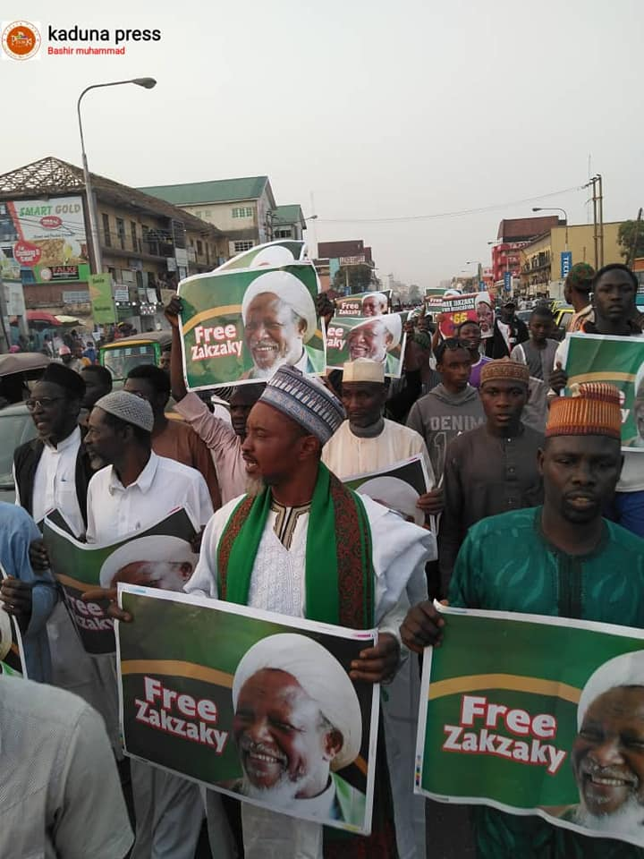 free zakzaky protest in kaduna on wed 5 feb 2020