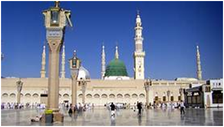 The prophet's mosque at Medina