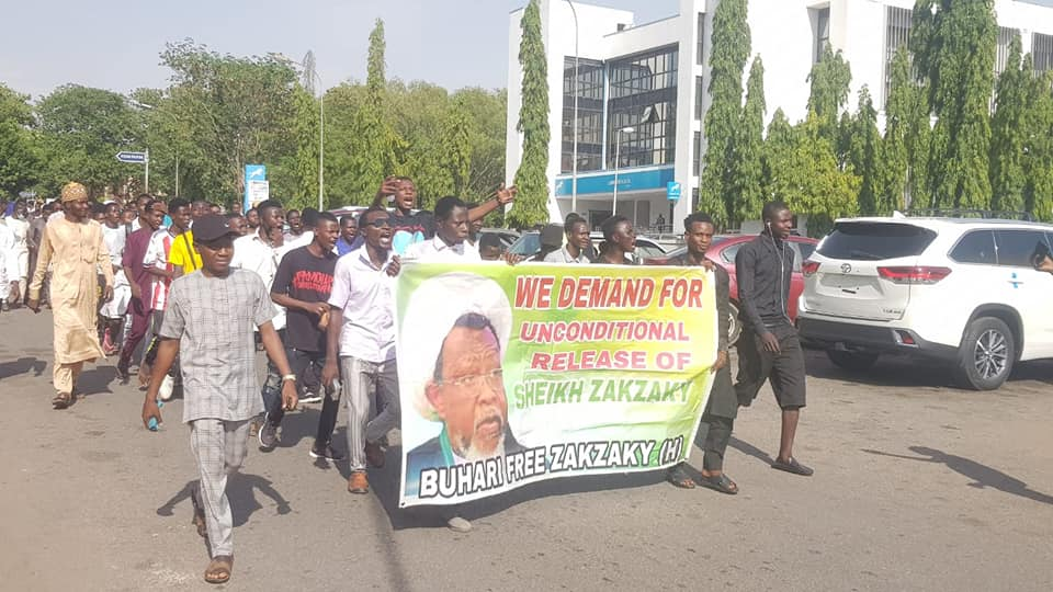 pro zakzaky protesters in abj on 22 april 2021