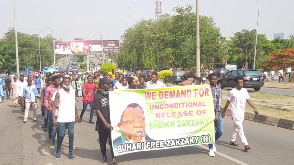 pro zakzaky protesters in abj on 28 april 2021