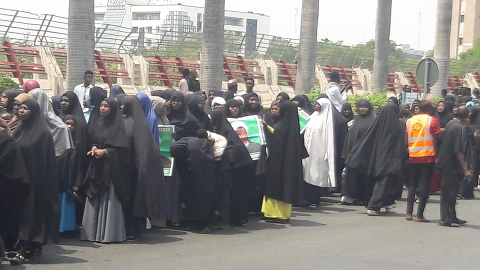 free zakzaky protest by sisters on 18 nov 19