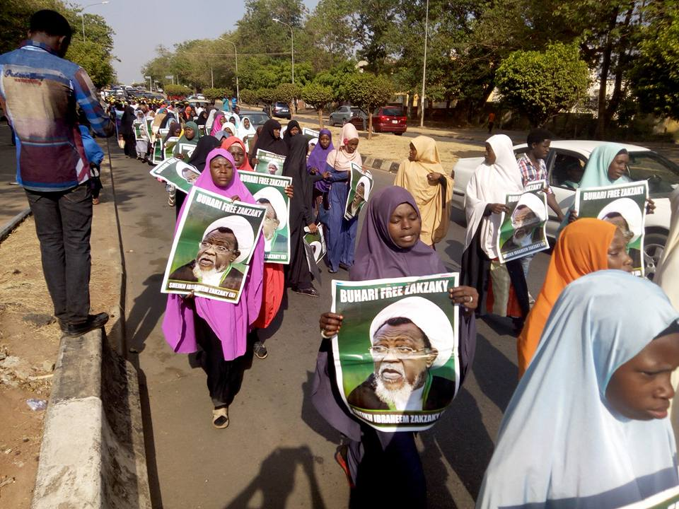 free zakzaky protest in  abuja on  Mon 5 march