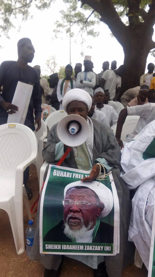 sit out to free zakzaky protest in abuja on 9th feb