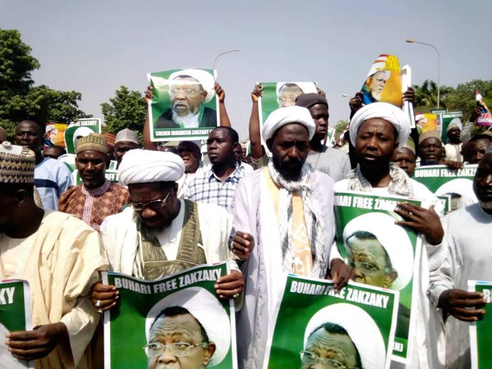 free zakzaky protest in abuja on 10th jan