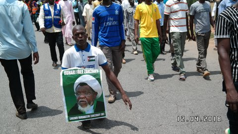 martyrs day and free zakzaky protest abuja on 13th April 2018 in abuja