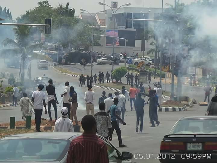police attack free zakzaky protest abuja on 16th April 2018 in abuja