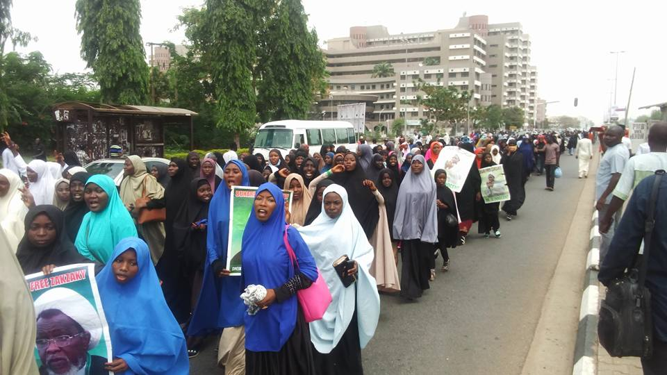 free zakzaky protest abuja on 4th April 2018