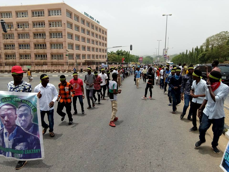 free zakzaky protest abuja on 5th April 2018