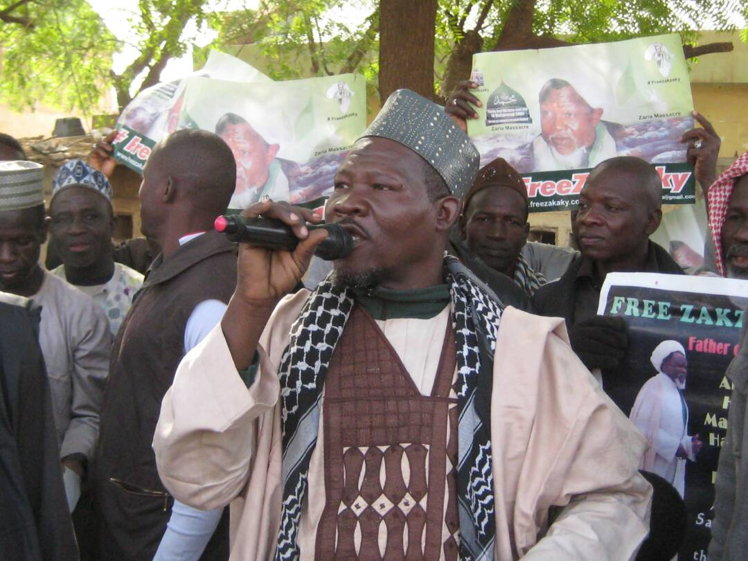 free zakzaky protest in illela for medical care
