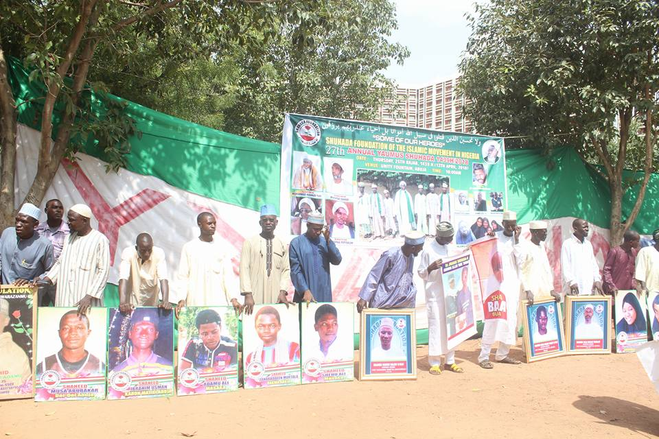 martrys day and free zakzaky protest abuja on 13th April 2018 in abuja
