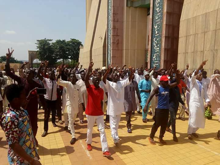 free zakzaky protest at national mosque abj on 4th may 2018