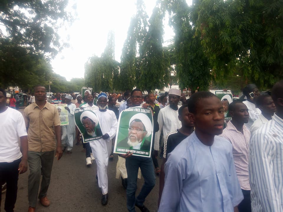 free zakzaky protest abj on Tuesday 8th may 2018