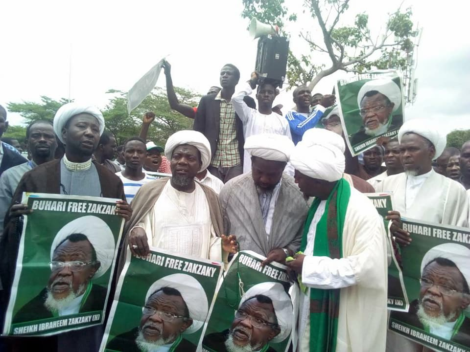 free zakzaky protest abj on wed 9th may 2018