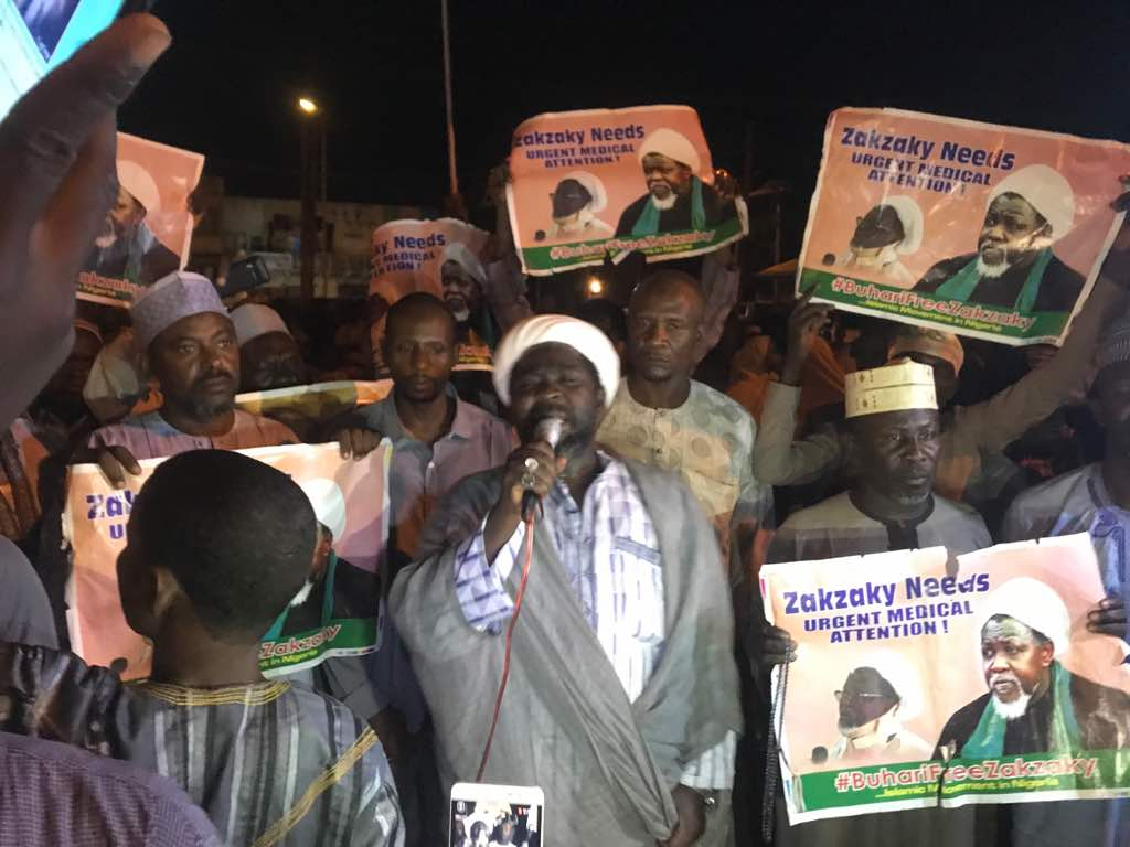 free zakzaky protest in kano sunday night 13th may 2018