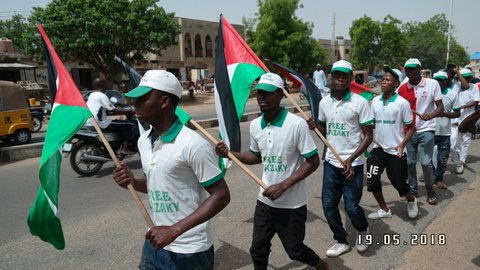support of Palestine and free zakzaky protest in kano on 18 may 2018