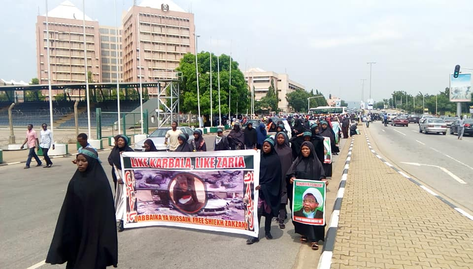free zakzaky protest in abuja on wed 10th oct 2018