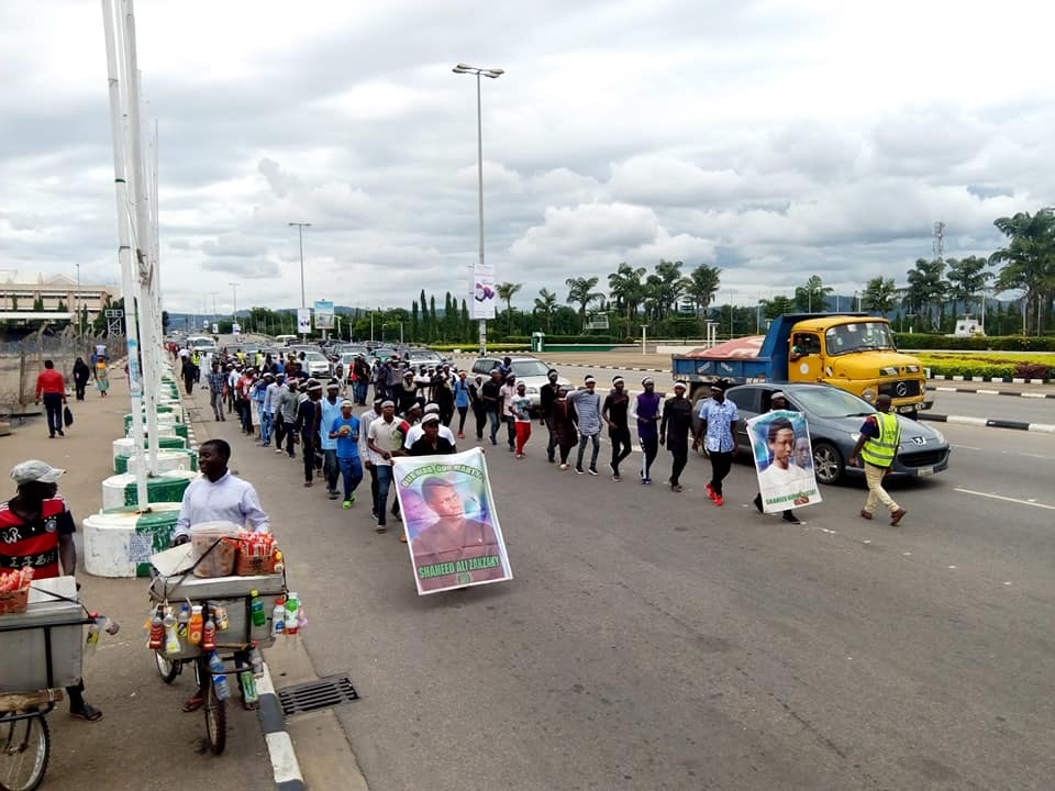 free zakzaky in abuja on monday 10th september 2018