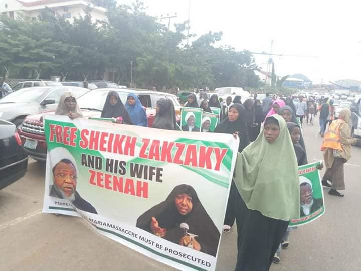 free zakzaky in abuja on tuesday 28th august 2018