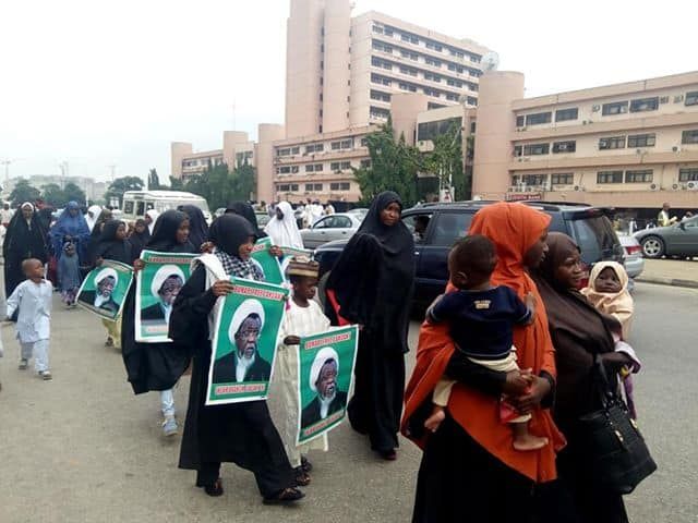 free zakzaky in abuja on wednesday 29th august 2018
