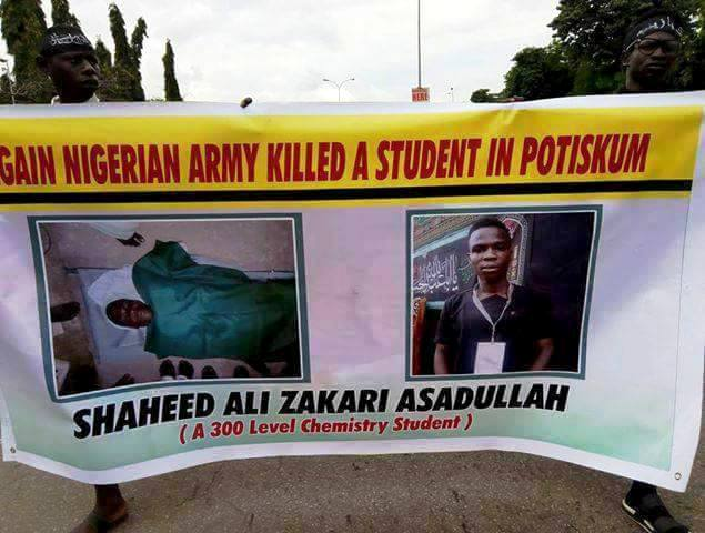 free zakzaky protest in abuja on 2nd oct 2018