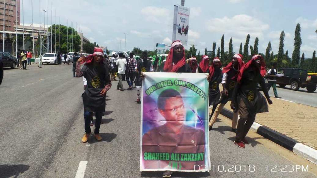 free zakzaky protest in abuja on 3rd oct 2018