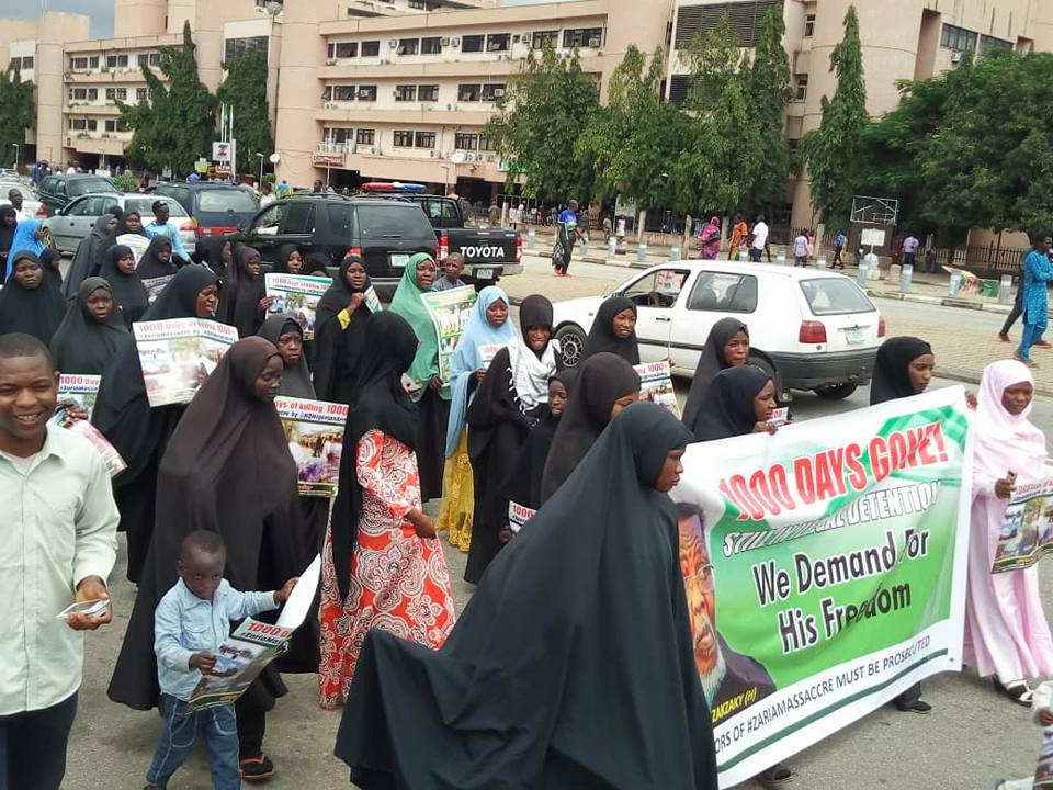 free zakzaky in abuja on Fri 7th sept 2018, marking 100days