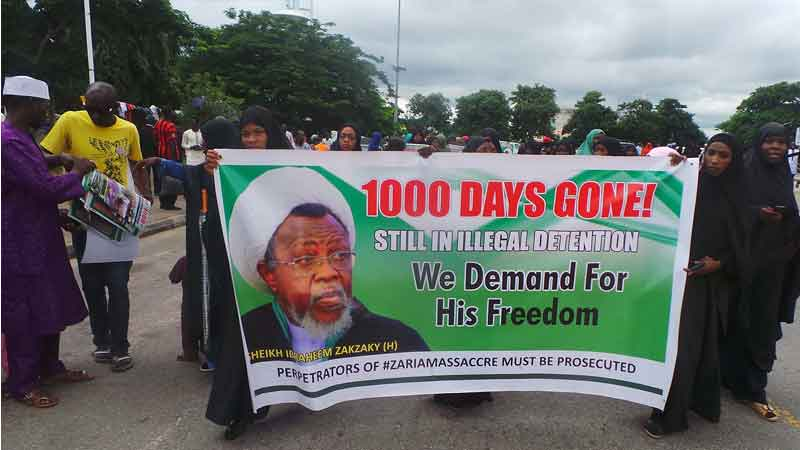 free zakzaky in abuja on Fri 7th sept 2018, marking 1000days