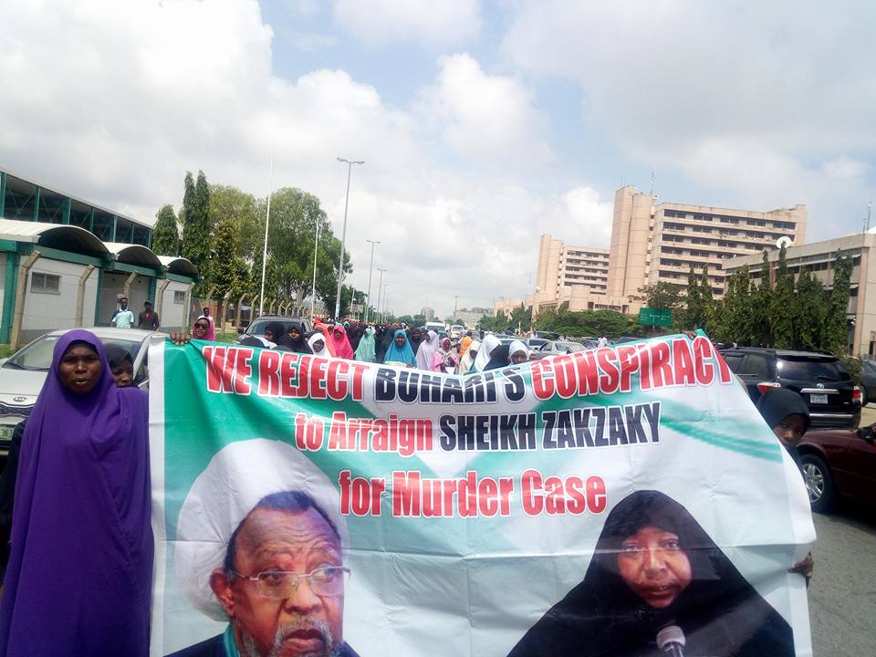 free zakzaky in abuja wed 8th august 2018