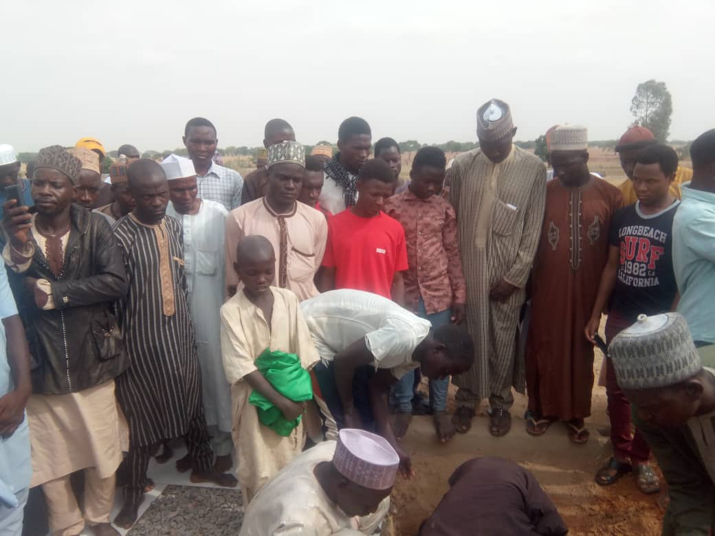 shahid binyamin mikail laid to rest in zaria on 6th april 2019