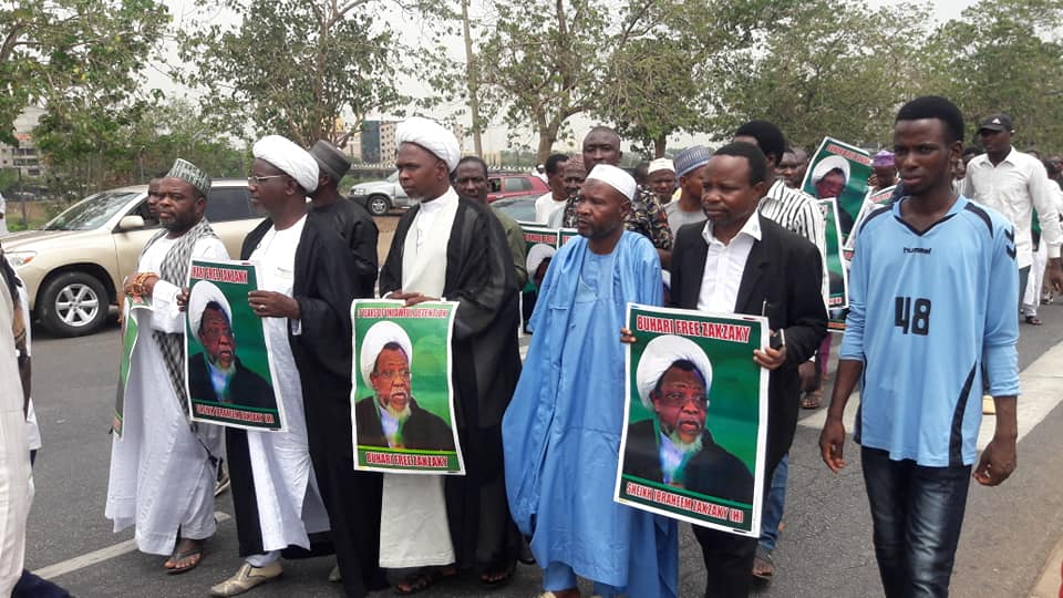 free zakzaky protest in Abuja on fri 12th april 2019
