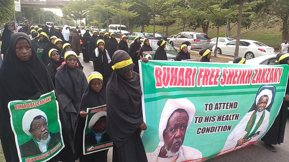 free zakzaky protest in abuja on monday the 13 th of may 2019