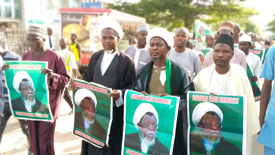 free zakzaky protest in abuja on tueday the 14 th of may 2019