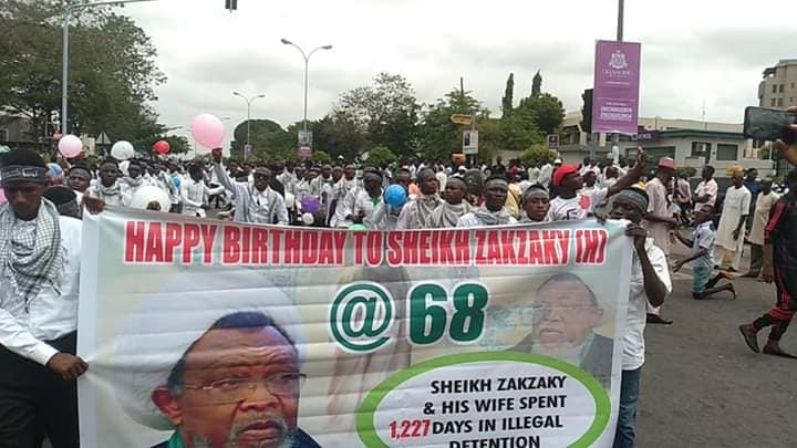 nisf shaban comm and free zakzaky protest in abj on 23 april 2019
