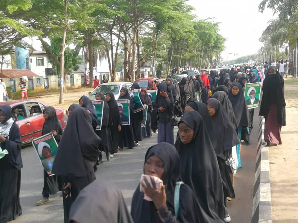 dfree zakzaky protest in abuja on 29th of April 2019