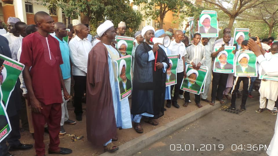 free zakzaky protest in abuja on thurday 3rd jan, 19