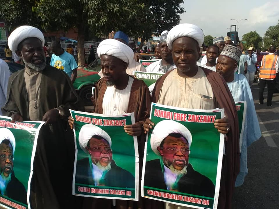 free zakzaky protest in abuja on wed the  8th of april 2019