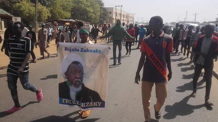 free zakzaky protest in zaria on thurday 3rd jan, 19