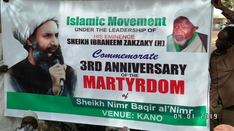 Sheikh Nimr Martyrdom kano on friday 4th jan, 19