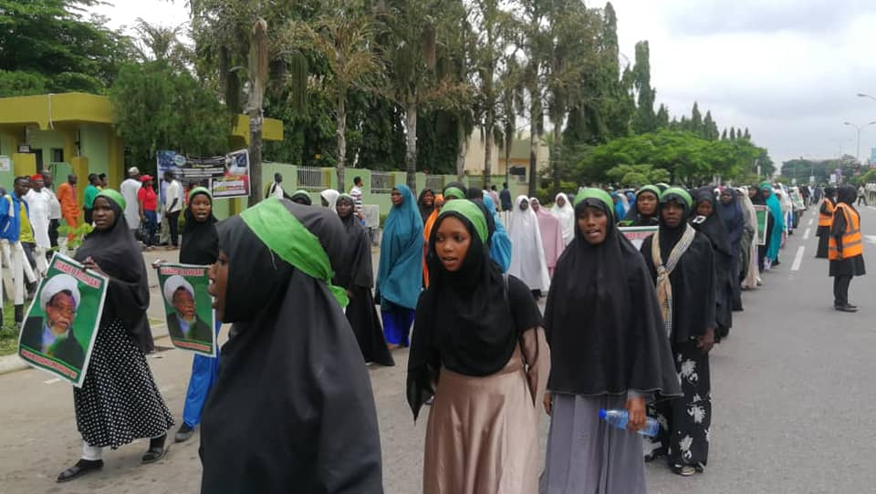 pfree zakzaky protest in abuja on wed 10th july 2019
