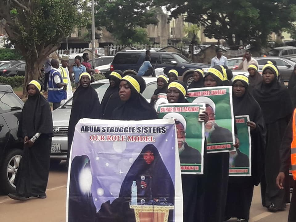 free zakzaky protest in abuja on wed 19th of june 2019